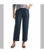 Vineyard Vines Size Medium Chambray Blue Pull On Pants Wide Leg Womens - $70.56