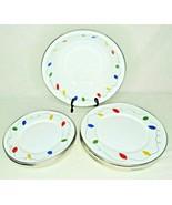 Vintage Christmas Lights Enamelware Dishes Golden Rabbit II 1999 Bowl Pl... - $16.88+
