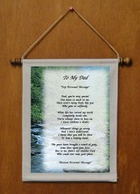 To My Dad - Personalized Wall Hanging (825-1) - $18.99