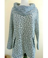 Style & Co. Black/White Knit Cotton Long Sleeve Cowl Neck Pockets Tunic ... - $23.09