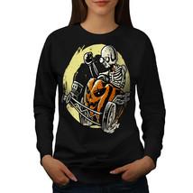 Funny Skeleton Bike Skull Jumper  Women Sweatshirt - $18.99