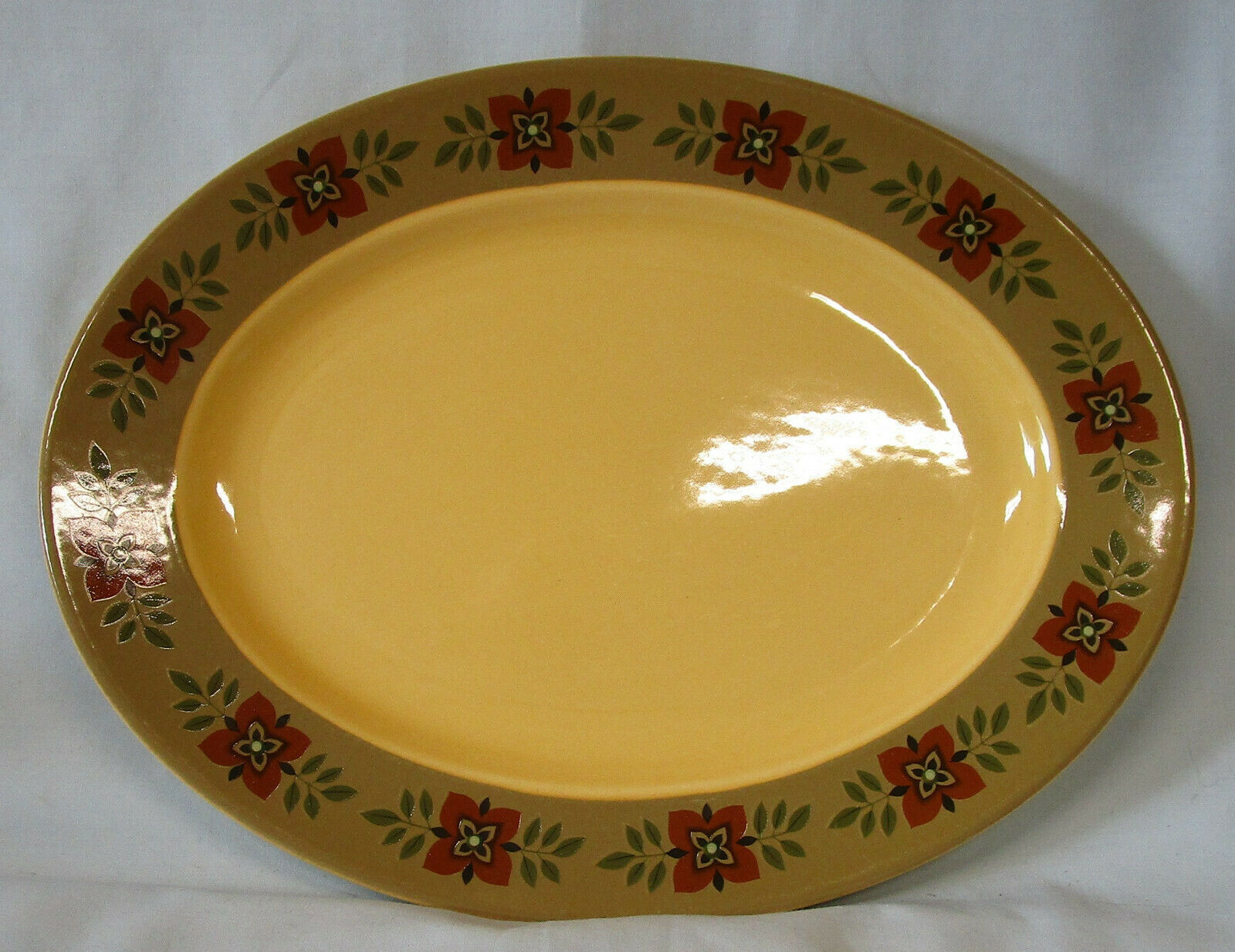 "Taylor Smith & Taylor Ironstone Casa Madrid Oval Platter 11 5/8"" - $25.63"