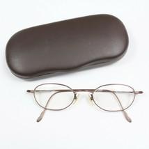Vintage Calvin Klein Japan Titanium 510 Brown RX Eyeglasses Frames 48 20 140 - $197.99