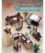 Fashion Doll at the Office fits Barbie Annie's Plastic Canvas Pattern Bo... - $15.27