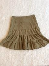 American Eagle Corduroy Skirt Ties in Back Tan Womens size 0 - $12.99