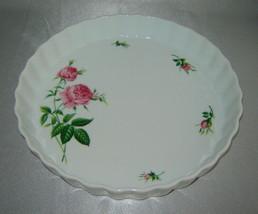 Beautiful CHRISTINEHOLM Porcelain Pink Rose Pie/Quiche Baking Dish Plate... - €8,99 EUR