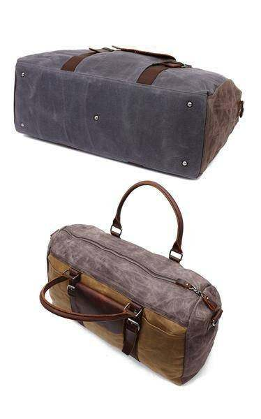 Sale, Military Duffel Bag ,Travel Bag, Canvas with Leather Duffel Bag, Men's Tra image 2