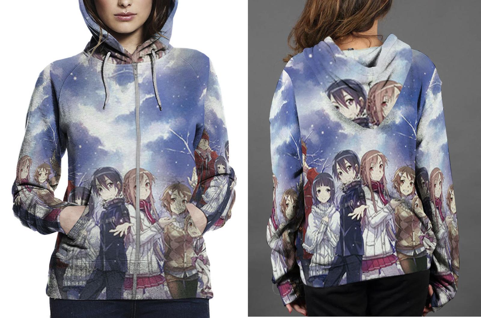 Klein  sachi  krito  asuna zipper hoodie women s