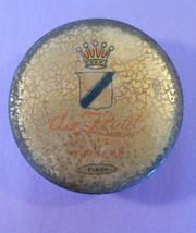 Antique Talcum Puff Co. Air Float FACE Powder SUPREME tin box compact-Crown - $11.41