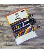 Love Wins Hair Ties Ponytail Holders Accessories LGBTQ Pride Rainbow Gay - £7.10 GBP