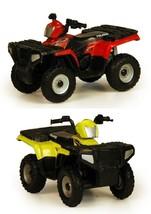 NEW! 1:32 ERTL PAIR OF POLARIS ATV Four Wheeler 4x4 *RED & YELLOW* *NEAT!* - $18.99