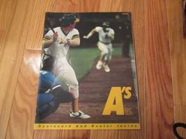 1982 Oakland A's Athletics Scorebook Program Souvenir Magazine MLB Baseball - $6.99