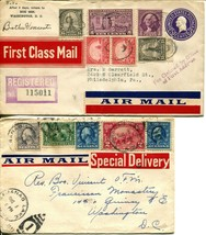 US Airmail First Class Mail Special Delivery Registered Postage Cover Co... - $72.00