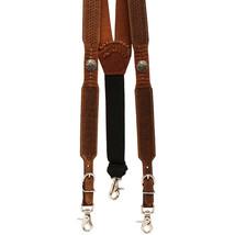 Large Nocona Belt [Mens Buffalo Nickel Basket Leather Suspender Tan U-44-L - $51.99