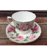 PRETTY Staffordshire England Fine Bone China ROSES Cup and Saucer Set - $16.78