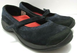 Merrell Womens 10 Encore Emme Mary Jane Shoes Navy Wool Leather Comfort ... - $58.18