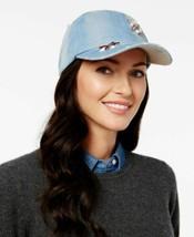 Steve Madden Jewel Cluster Denim Baseball Cap (Blue, One Size) - $28.00