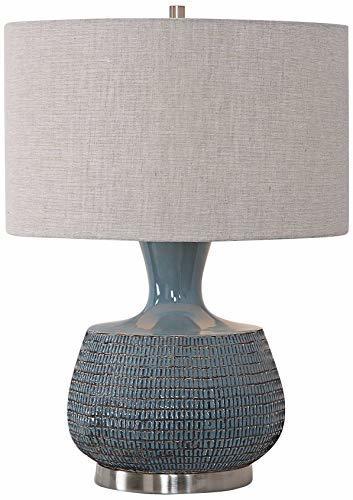 Uttermost Hearst Blue Glaze Ceramic Table Lamp image 2