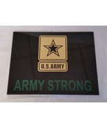 "US Army - ARMY STRONG  w Army Logo Center  8.5"" x 6.5"" Black Acrylic - $59.40"