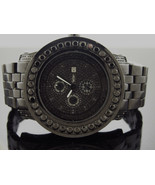 king Master Swiss Movt quartz Round genuine Diamonds 52 MM Black Watch - $395.99