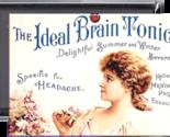 Brain Tonic refrigerator locker METAL fridge magnet (819)-30% larger