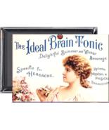 Brain Tonic refrigerator locker METAL fridge magnet (819)-30% larger - $6.39