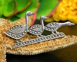 Vintage trio ducks in a row sterling silver marcasite brooch pin geese thumb155 crop