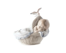Lladró Tender Dreams Tiernos Sueños Baby in Basket Collectible Figurine ... - $157.41