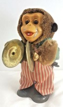 Wind Up Rare Old Vintage Cymbal Monkey Chimp Toy With Cymbals Working Co... - $53.45