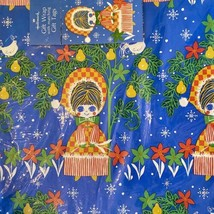 VTG Hallmark Christmas Gift Wrap Wrapping Paper Tags Vintage Bradley Doll Blue - $25.25