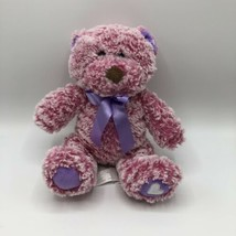 "Animal Adventure Pink/Purple Teddy Bear Valentines 2018 8"" - $11.87"