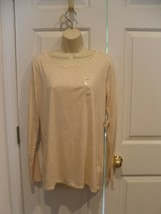 NWT Stylus oatmeal Top long  Sleeve Crew Neck  size large - $18.80