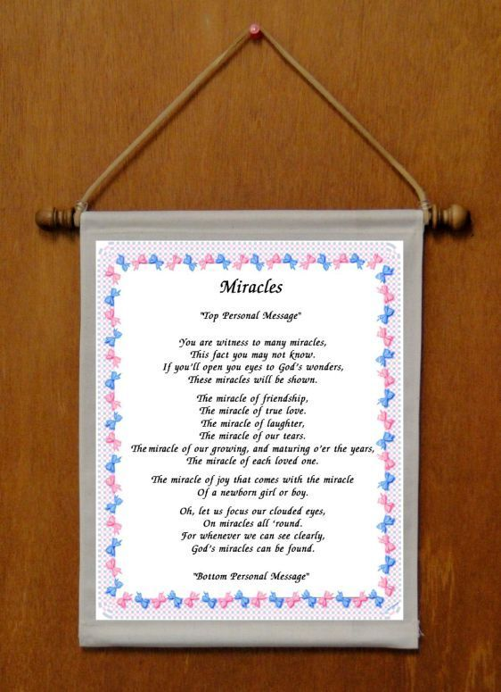 Miracles - Personalized Wall Hanging (193-1)