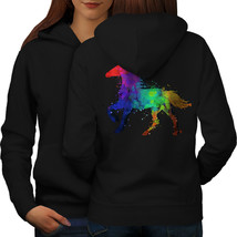 Splash Horse Paint Sweatshirt Hoody Dye Color Women Hoodie Back - $21.99+