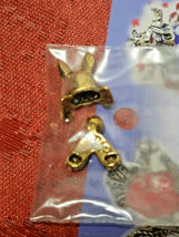 VINTAGE BUNNY BEAD CRITTERS BEAD WRAP BY PENNY MICHELLE 1995 GOLDTONE image 3
