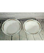 2 Lido W. S. George White Flower Rim Round Vegetable Serving Bowls 9 1/2... - $19.79
