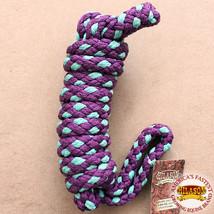 "Hilason Horse Riding Poly Lead Rope Purple  1/4"" X 9 Ft. Purple Turquoise U-74-9 - $19.79"