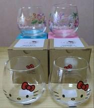 Sanrio Hello Kitty Yura Yura Tumbler Glass Cup Set Tableware Animation I... - $85.62