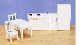 DOLLHOUSE MINIATURES 6 PC WHITE KITCHEN SET #00304 - $54.44