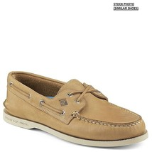 Sperry Top Sider A/O 2-Eye Men's Cross Lace Boat Shoes Tan Size 6.5M - $70.78