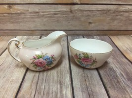 Paragon Sugar Bowl Creamer Fine Bone China England Floral Spray Vintage - $34.64