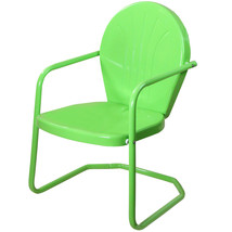 LB International Outdoor Retro Metal Tulip Armchair, Lime Green - $73.00