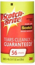Scotch-Brite Lint Roller Refill Roll 56 ea Pack of 4 - $12.98