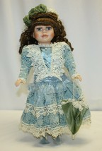 """16"""" Porcelain Doll Collectors Choice by DanDee Blue Eyes Brown Hair - $19.79"""