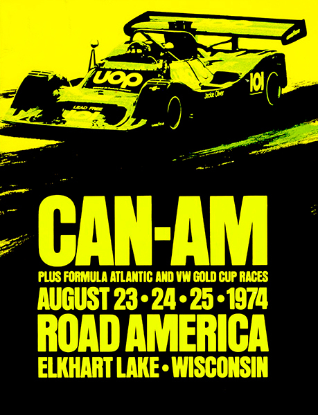 Primary image for 1974 CAN-AM Racing - Road America Wisconsin - Promotional Advertising Poster