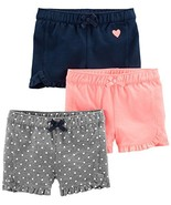 Simple Joys by Carter's Toddler Girls' 3-Pack Knit Shorts (4T|Pink.gray/... - $35.16