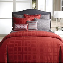 Veratex FRAMES City Collection 5P Queen Comforter Set Red - £102.71 GBP