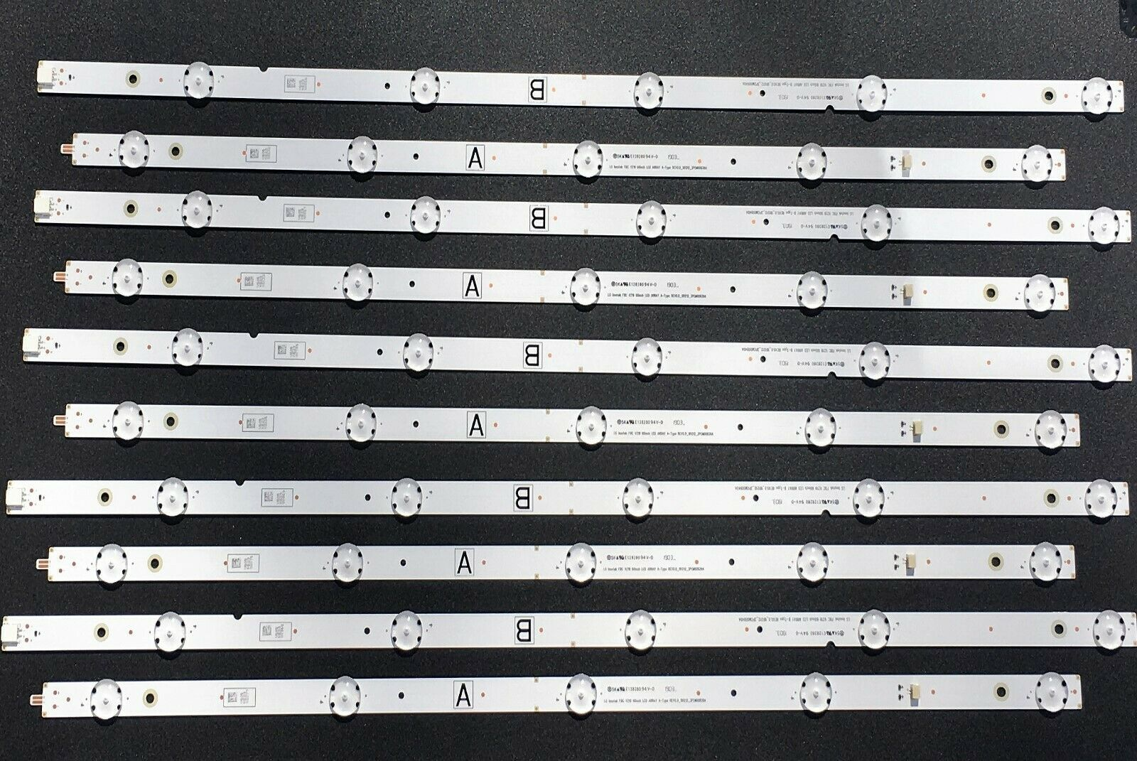 Primary image for VIZIO REV0.0_181212  E128280 V605 LED Backlight Strips (10) for V605-G3 LFTRYRKV