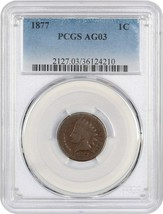 1877 1c PCGS AG-03 - Elusive Key Date Indian Cent - Indian Cent - $426.80