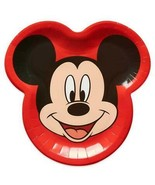 Disneys Mickey Mouse Face Shaped Lunch Plates Birthday Party Supplies 8 ... - $4.84